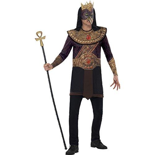 Amakando Himmelsgott Kostüm - M (48/50) - Ägyptischer Gott des Himmels Ägypter Kostüm Herren Verkleidung männliche Gottheit Outfit Antike Horus Männerkostüm