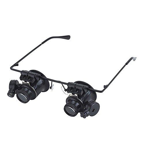 2x Spiegel Lupe (nadalan Lupe Eye Spiegel Okular Gläser Typ LED-Leuchten Lupe Lupe Juwelier Lupen Werkzeug 20x)