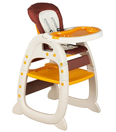 FoxHunter Baby Highchair Infant High Feeding Seat 3in1 Compact Toddler Table Chair Beige New 41cW3axmIZL