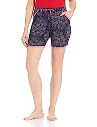 Jockey Women's Modal Shorts (RX10-0103-RL054_Multicoloured_L)