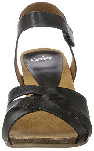 Caprice 28317, Sandali con Tacco Donna Nero (Black Nappa)