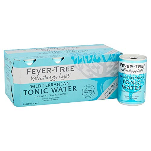 fever tree mediterranean tonic Fever Tree Refreshingly Light Mediterranean Tonic Water, 8 x 150 ml