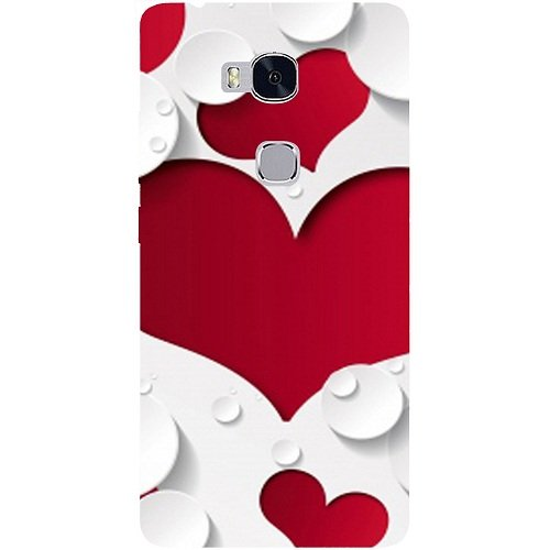 Casotec Multiple Hearts Design Hard Back Case Cover for Huawei Honor 5X