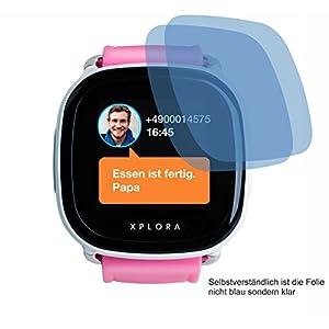 2X ANTIREFLEX matt Schutzfolie für XPLORA Kids Smartwatch Telefonuhr Displayschutzfolie Bildschirmschutzfolie Schutzhülle Displayschutz Displayfolie Folie