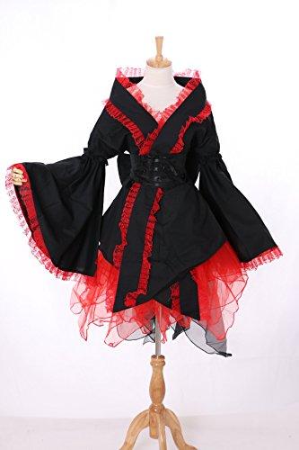 M-3143 rot schwarz Wa-Qi Lolita Japan Kimono Cosplay Kostüm costume Kawaii-Story (Japan...