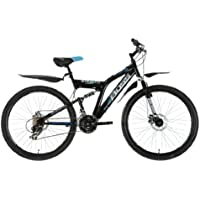 "Boss StealthMens' Mountain Bike Black, 26"" inch steel frame, 21 speed front and rear mudguards front and rear mechanical disc brake"