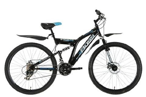 Boss Stealth Mens Dual suspension bike - Black, 26 Inch