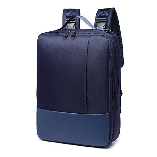 Imagen de  para portátil, 3 en 1 bolsa bandolera/maletin/backpack de hombres para laptop 15.6 pulgada, impermeable netbook dayback para universidad/negocios/trabajo, azul