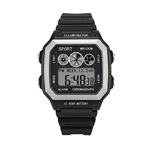 YvelandsLuxus Männer Analog Digital Military Army Sport LED Wasserdichte Armbanduhr(Weiß,Free)