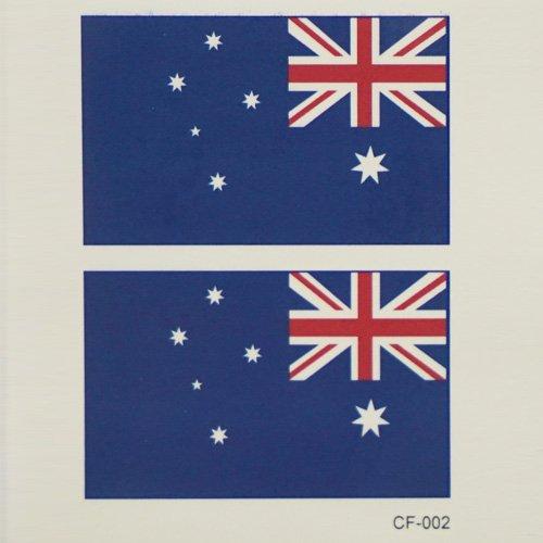 018 die Russische Fahne tattoo Aufkleber Gesicht in der Nähe der Fans wasserdicht dauerhafte Geschlecht, Australien CF-002 (5) (Halloween Amerika Australien)