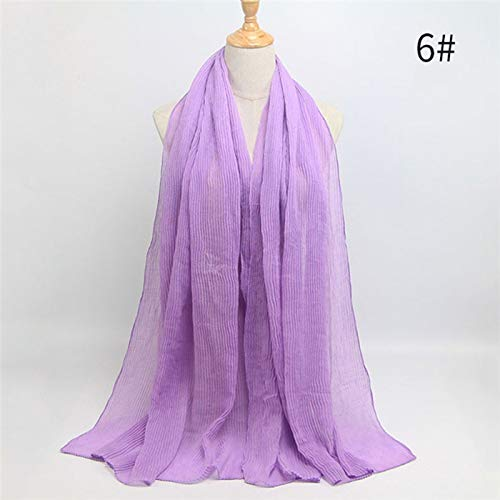 2f27a756ba1e Yukun Écharpe Bubble Cotton Scarf Headband Design Hiver Chaud Vague Ride  Musulman Wrap écharpe 22 Couleurs
