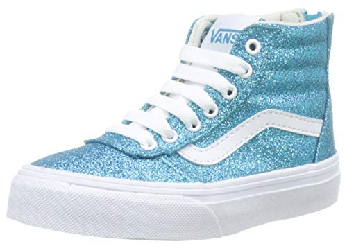 Vans Mädchen Ward Hi Zip Hohe Sneaker, Türkis ((Glitter) Bluebird/White V2n), 36.5 EU -