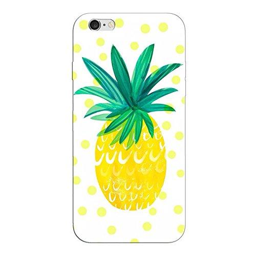 iPhone 6 6S PLUS Handyhülle Schutzhülle Hülle Silikon Cover Case 5.5 Ultradünn Ultra Slim TPU Ananas