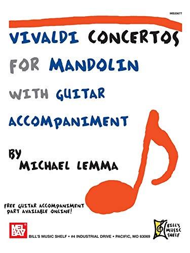 Vivaldi Konzerte for Mandolin. Partitionen für Mandoline