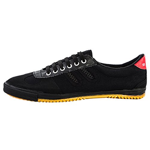 Shuang Xing Sneaker - Kampfkunst Sport Parkour Wushu Schuhe Schwarz 46