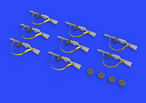 Eduard EDB635011 1:35-PPsh-41 Kit de Modelo de Pistola de submáquina, latón, Varios