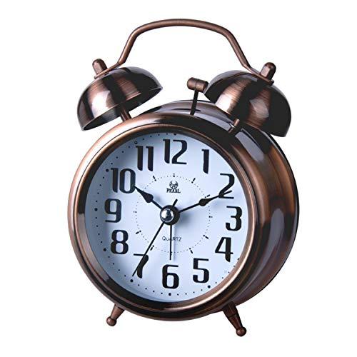 LANCARDO Wecker Alarm Clock, Vintage Analog Wake Up Lightwecker Nachlicht ohne Ticken für Erwachsene und Kinder