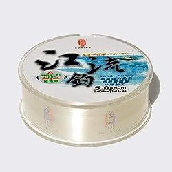 HATCHMATIC ZUKIBO 50m Japón importó 100% Fluoro línea er súper Fuerte línea de Pesca trannt: Claro, 8,0