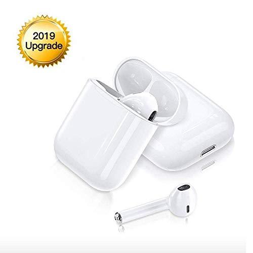 jliugkkm Auricolare Bluetooth Auricolare Wireless 5.0 Supporto Binaurale Cuffie Intrauricolari Stereo con Cancellazione del Rumore Microfono per Tablet Airpods Android Apple Mac