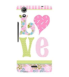 Love is My Boy Friend 3D Hard Polycarbonate Designer Back Case Cover for Micromax CanvasSelfie2Q340