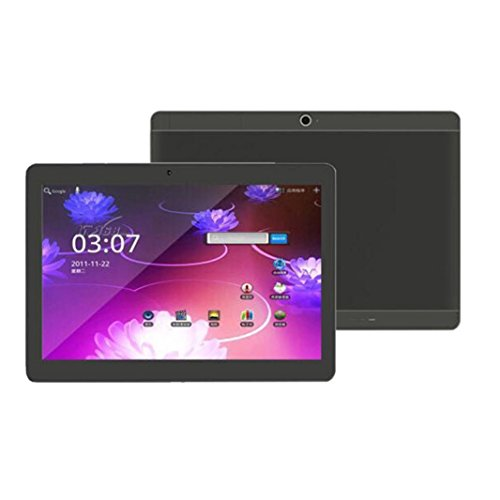 Tablet PC, S108 Smart Tablet 10,1 Zoll Android 4.4 800*1280, Mikrofon Wifi Octacore Core 2 Sim 4G HD Bluetooth 4.0 (800*1280, Schwarz)