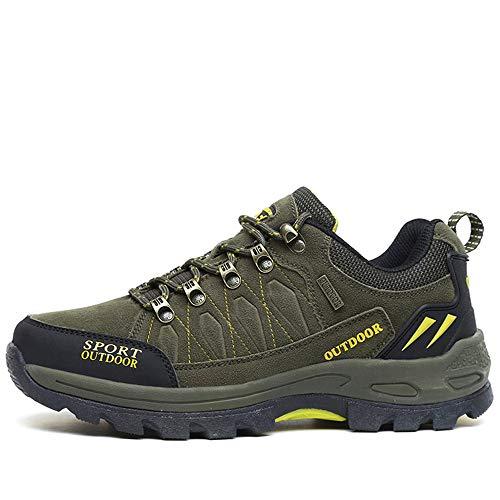 Coppia Outdoor Escursionismo Scarpe da Trekking Estate Leggero Antiscivolo Viaggi Campeggio Scarpe da Ginnastica,Verde Militare,42