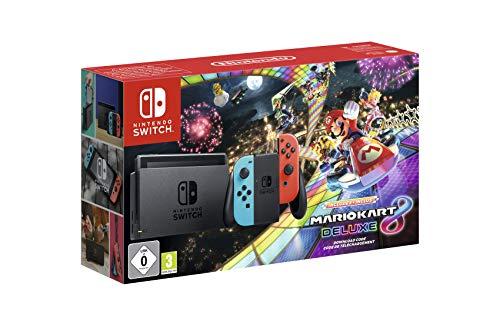 Nintendo Switch - Consola + Mario Kart 8 Deluxe Bundle (Código Descarga) - Edición limitada (precio: 329,99€)
