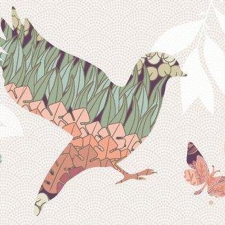 anna wand Bordüre selbstklebend DREAM BIRDS - Wandbordüre Kinderzimmer / Babyzimmer mit floralen Vögeln - Wandtattoo Schlafzimmer Mädchen &...