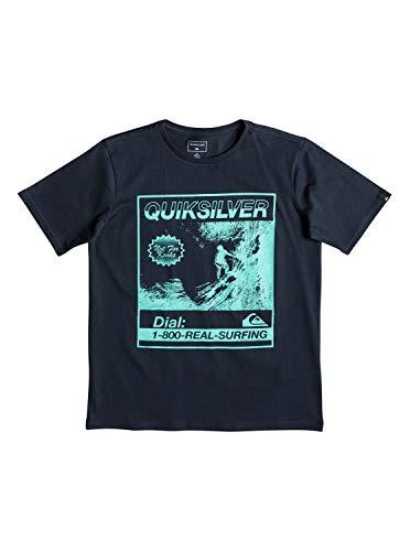 Quiksilver Jungen Temple of The Dog T-Shirt, Blue Nights, L/14 - Quiksilver-jungen Kleidung