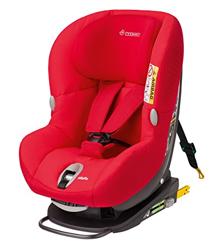 Maxi-Cosi MiloFix - Reboarder Kindersitz, Gruppe 0+ /1 (0-18 kg), Kinderautositz mit Isofix, origami red