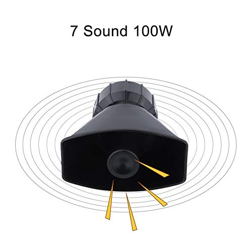 Erduo-7-Sound-100W-Electronic-Car-Alarm-Warning-Allarme-Moto-Horn-con-Microfono-Altoparlante-della-Polizia-Allarme-antincendio-PA