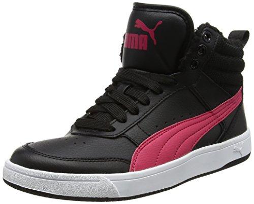 Puma Unisex-Kinder Rebound Street v2 fur Jr Sneaker, Schwarz (Black-Love Potion), 38 EU (Puma-high-tops Herren-schuhe)