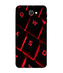 PrintVisa Designer Back Case Cover for Samsung On5 (2016) New Edition For 2017 :: Samsung Galaxy On 5 (2017) (The Flashy Keys In Red And Black)
