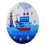 Baby Oodles Sailor Theme Kids Wall Clock
