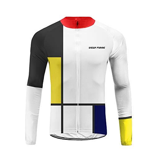 Uglyfrog Magliette Jersey Uomo Mountain Bike Manica Lunga Camicia Top Abbigliamento Ciclismo Autunno Style CXMX10
