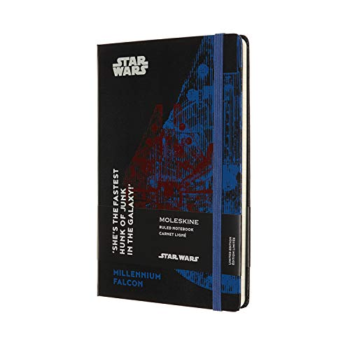 Moleskine Limited Edition Star Wars Notebook, Large, Ruled, Millennium Falcon (5 X 8.25)