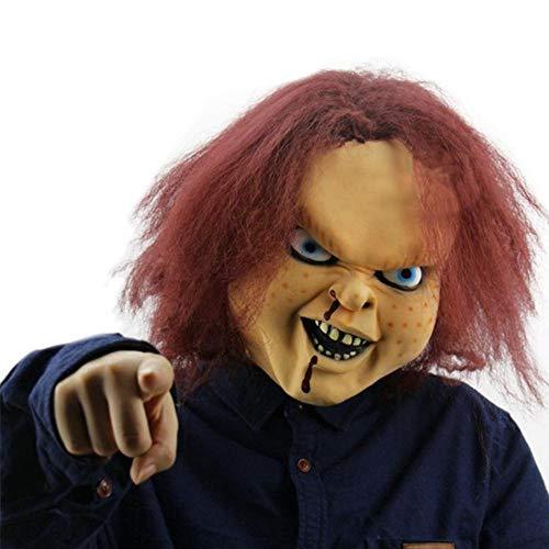 Beängstigend Maskerade Kostüm - ZXIU Masken für Kostüme Maskerade Masken Beängstigend Adult Latex Creepy Party Scary Mask Kostüm