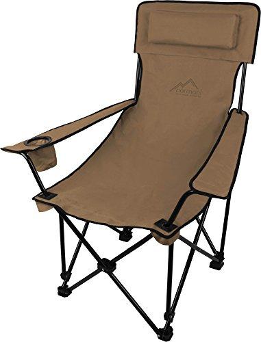 normani Sehr Stabiler Klappstuhl Campingstuhl Angelstuhl mit Getränkehalter, Abnehmbarer Polsterung Tragetasche - bis zu 150 kg Farbe Khaki