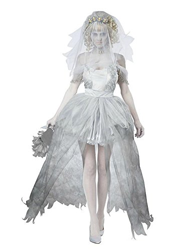 Molly Pur Color Halloween Fantôme Fantaisie Wedding Robe Comme Image