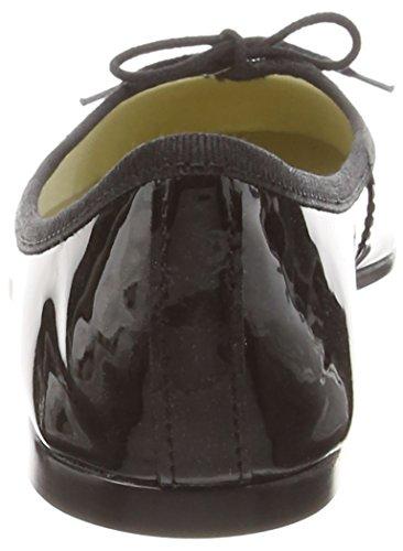 French Sole Indai Patent, Ballerine Donna Nero (Black (nero))