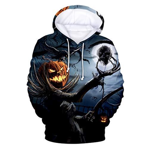 R-Cors Unisex 3D Druck Fleece Hoodies Halloween Pullover Langarm Kapuzenpullover Hip Hop Sweatshirts Kapuzenpulli S-XXXXL