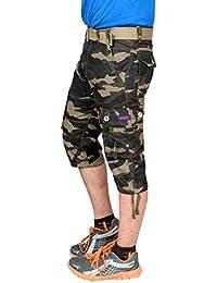 Krystle Boy's Army Cotton 3/4th Shorts| Capri