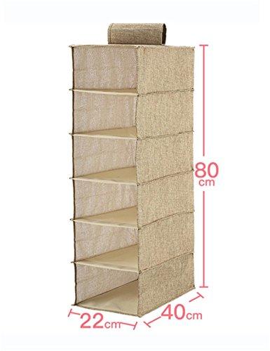 Sac de rangement de tissu Sac de rangement mural de stockage multicouches de finition murale ( taille : L )