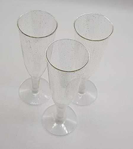 Lot de 12 coupes Margarita à Martini jetables en plastique Verres à pied Noir-Perfect fo une fête