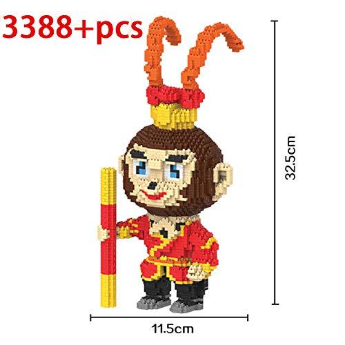 HLDX Oriental Culture Monkey Series Modell Baustein Set 3D Modell - 3496+ Pcs Nano Mini Baustein Spielzeug Modell Diamant Spielzeug Kinder Männer und Frauen Geburtstagsgeschenk,2