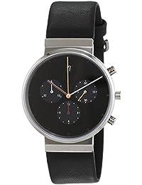 Jacob Jensen Herren-reloj analógico de pulsera de cuarzo cuero Item NO, 603
