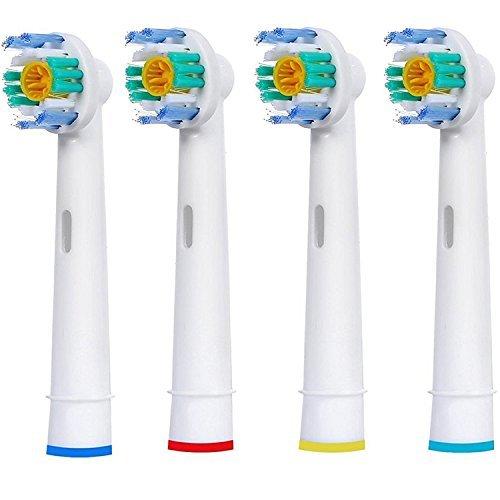 genérico RECAMBIO CABEZALES para cepillos de dientes 3d blanco ORAL-B BRAUN,doble limpieza eléctrico DIENTES,3d Excel,POTENCIA Avanzada,Profesional Cuidado,Smart SERIE ,Pro Salud,TRIUMPH -4 piezas