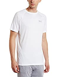 Under Armour Speed Stride Short Sleeve Camiseta de Manga Corta, Hombre, Blanco (100), M