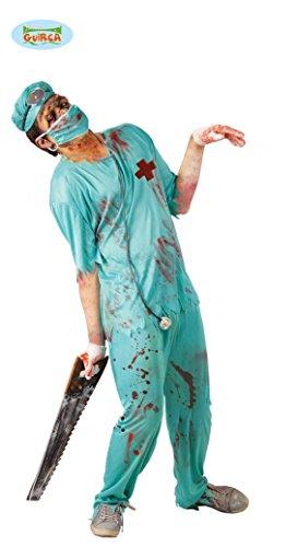 Zombie Chirurg Arzt Kostüm für Herren Gr. M/L, Größe:L (Halloween Arzt)