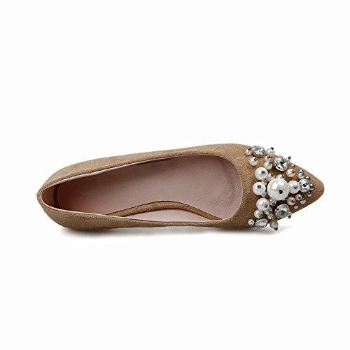 MissSaSa modern flach geschlossen Pointed Toe Pumps/Slipper mit künstlich Perlen Aprikosen
